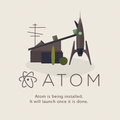 atom installer progress