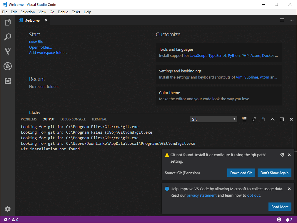 visual studio code welcome