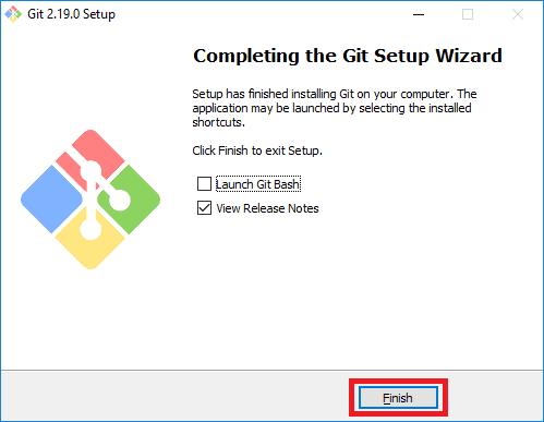 git installer finish