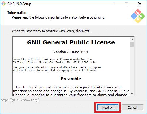 git installer license