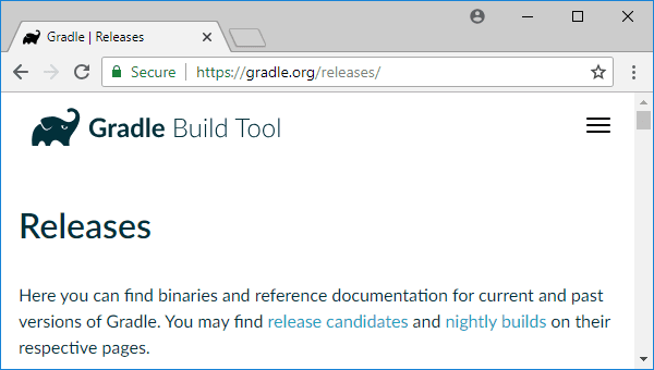 gradle releases page