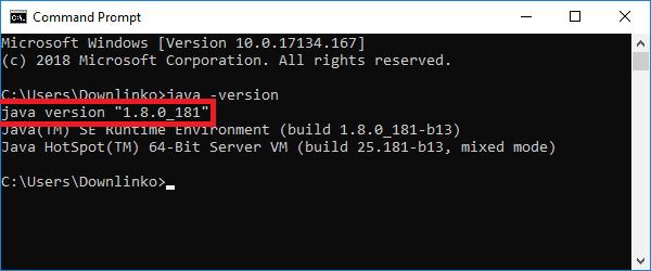 java installed version