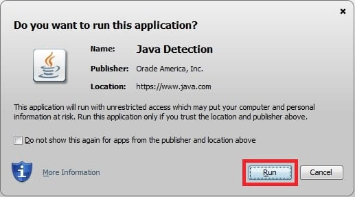 java allow applet to run