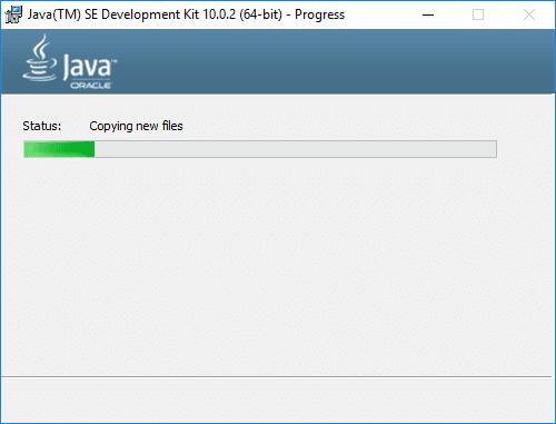 jdk 10 installer progress