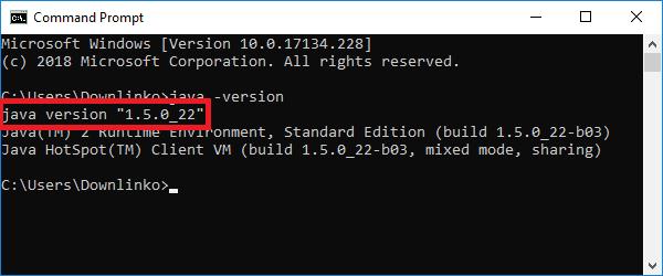 jdk 5 version output