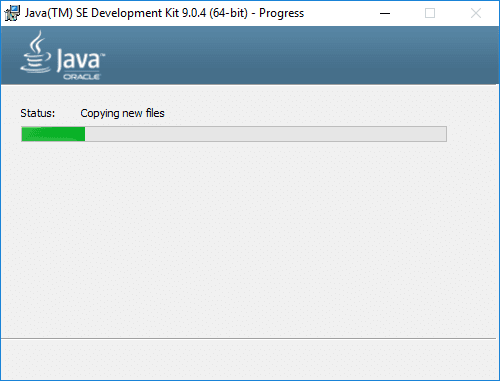 jdk 9 installer progress
