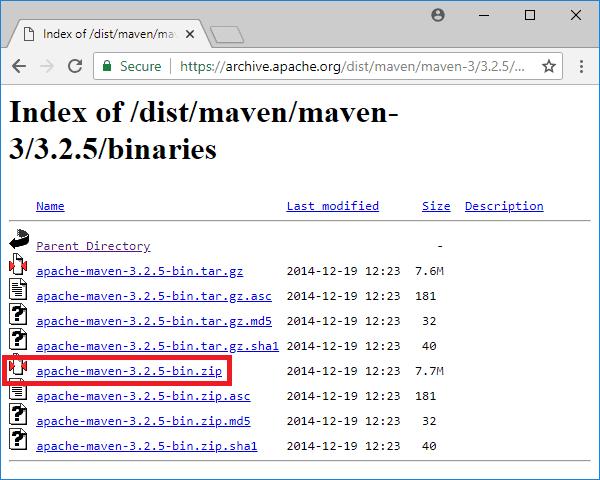 maven 3-2-5 binaries
