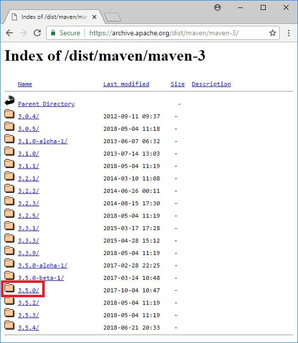 maven 3-5-0 download archive