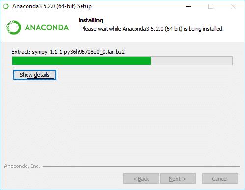 anaconda installer progress