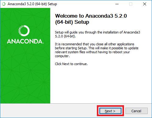 anaconda 11 installer start