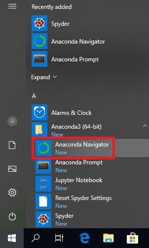 anaconda navigator shortcut