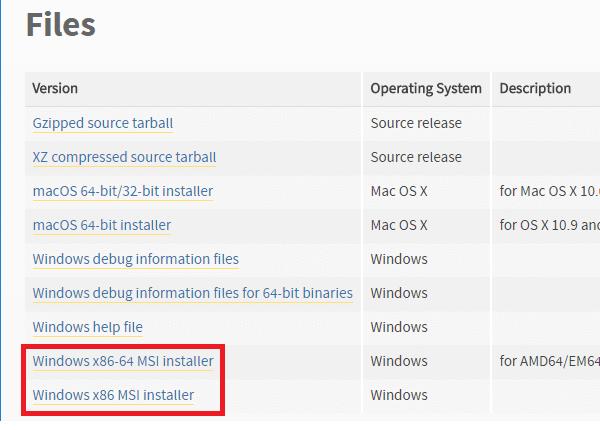 python 2-7-15 windows installer