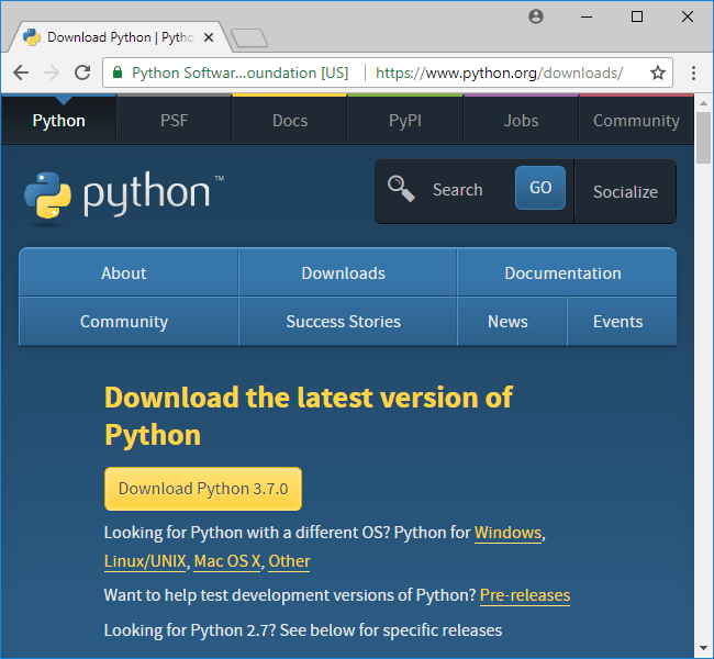 python-download-page