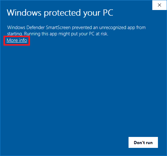 windows defender smartscreen prevent unrecognized app